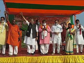 डिप्टी सीएम सुशील मोदी ने काराकाट में की चुनावी जनसभा भाजपा प्रत्याशी राजेश्वर राज के लिए मांगा वोट