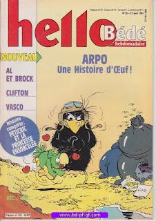 Hello-Bébé, numéro 35, 1991, Arpo, une histoire d'oeuf