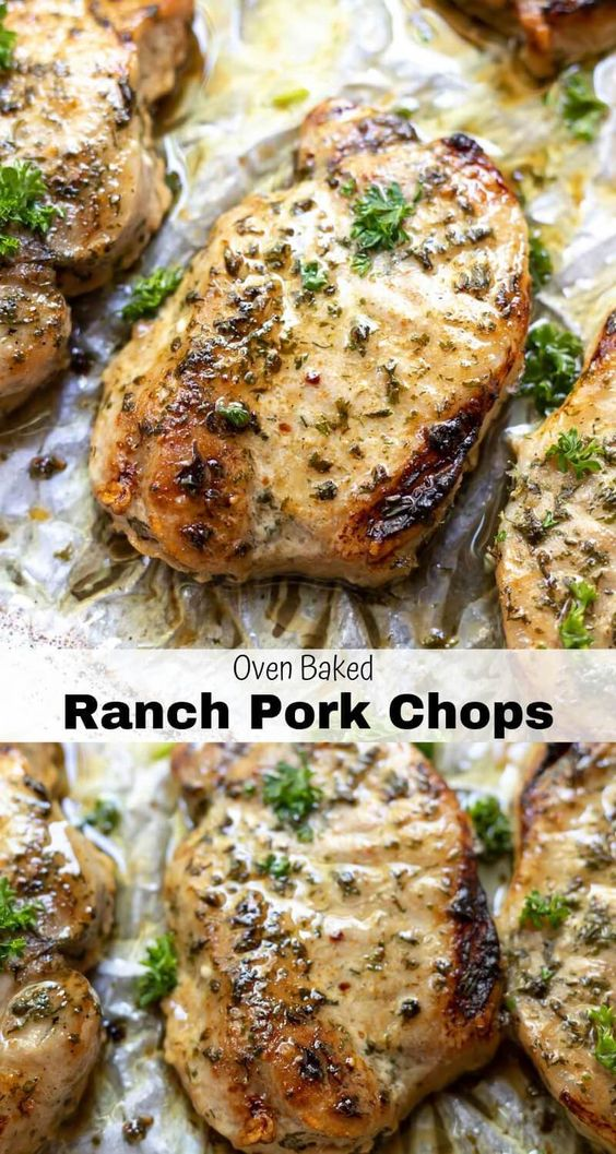 Baked Ranch Pork Chops Recipe #recipes #dinnerrecipes #easydinnerrecipes #easydinnerrecipesforfamily #quickdinnerrecipes #food #foodporn #healthy #yummy #instafood #foodie #delicious #dinner #breakfast #dessert #lunch #vegan #cake #eatclean #homemade #diet #healthyfood #cleaneating #foodstagram