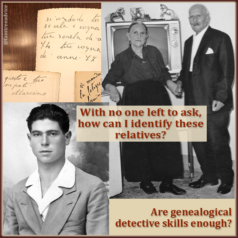 Are there enough clues to figure out who these relatives may be?