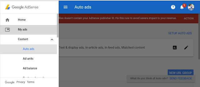 Auto-ads in Adsense