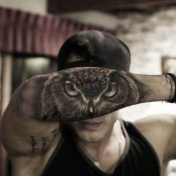 Owl Forearm Tattoo