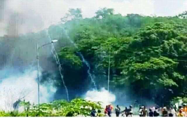 gnb-reprimio-con-bombas-lacrimogenas-y-perdigones-manifestaciones-en-perija-fotos