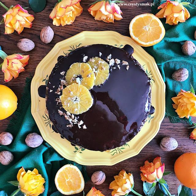 Ciasto orzechowo-pomarańczowe