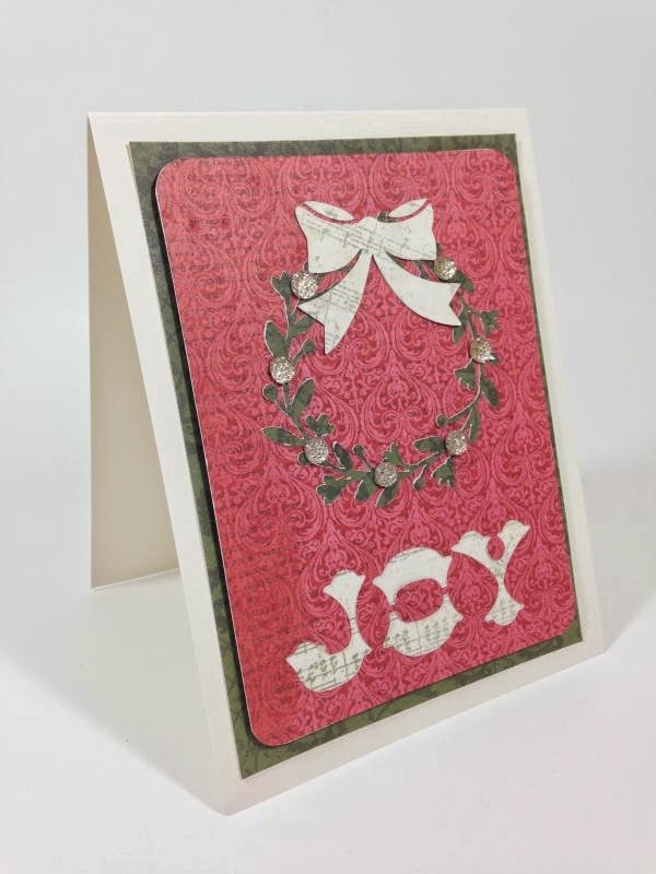 Close To My Heart Artfully Sent Cricut cartridge Joy card sideview