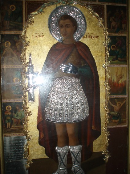 Original icon of St. Fanourios. Rhodes.