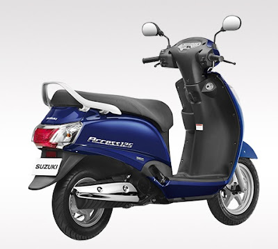 Suzuki Access 125 Right side rear look