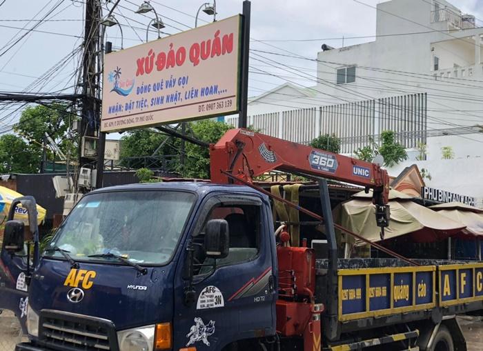 Công ty thi công bảng hiệu quảng cáo tại Phú Quốc
