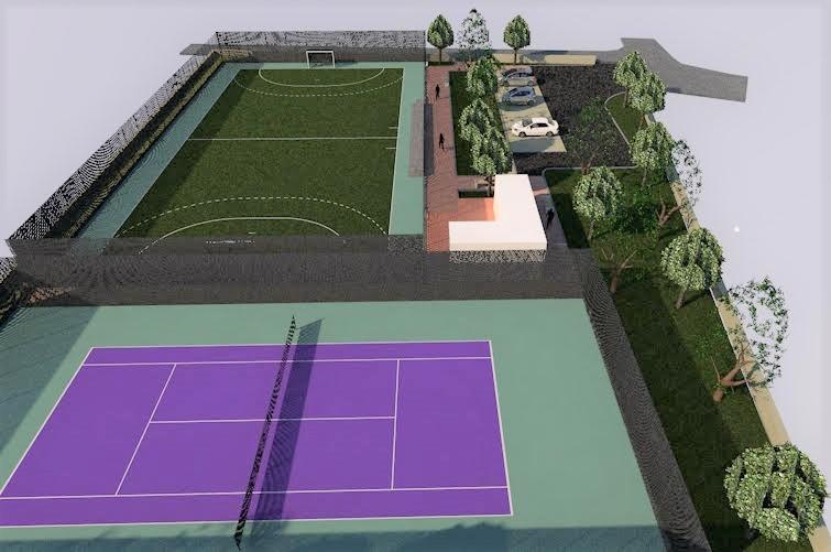 Γήπεδο τένις και ποδοσφαίρου 5Χ5 στην Κοινότητα Αρφαρών