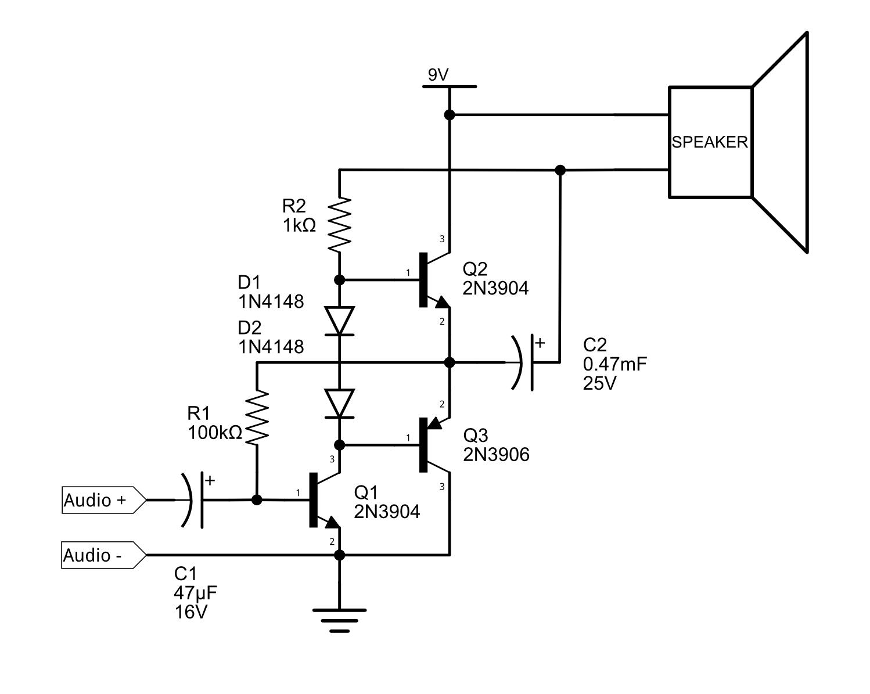 9v Audio Amplifier
