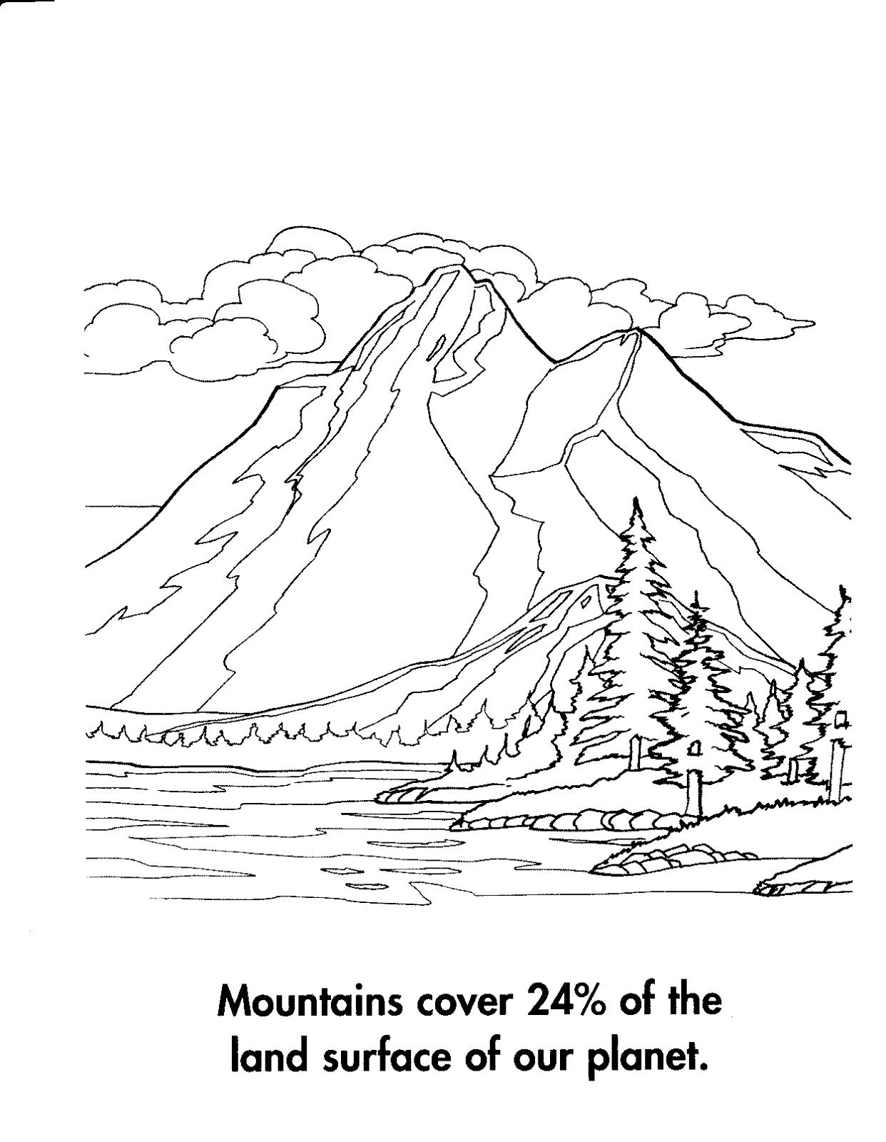coloring pages mountains - photo#10