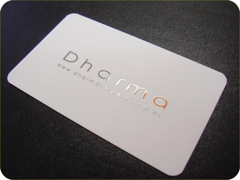 Cartão Branco de Verniz Localizado nas letras