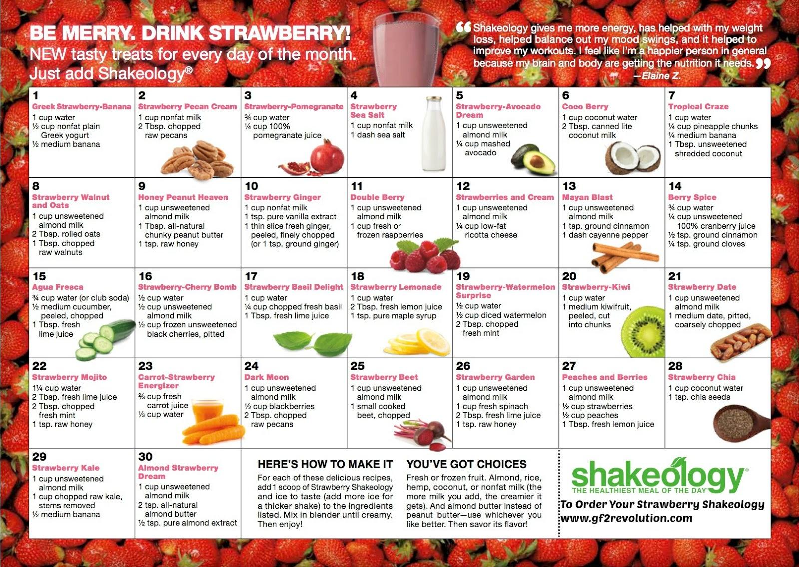 strawberry shakeology flavor ideas