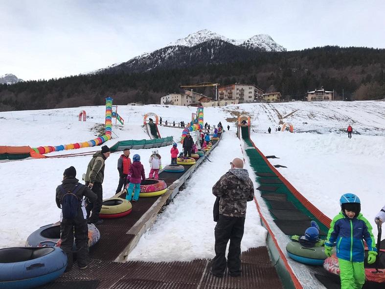 Snowpark ad Andalo in trentino