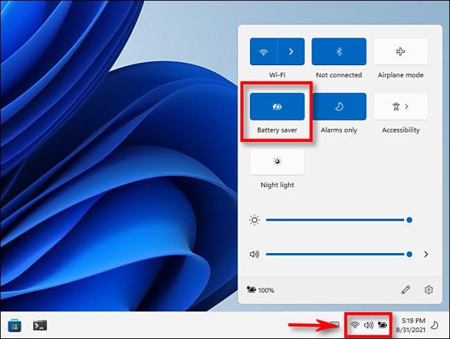 كيفية تشغيل وضع توفير طاقة البطارية على ويندوز 10 ، 11 Battery Saver