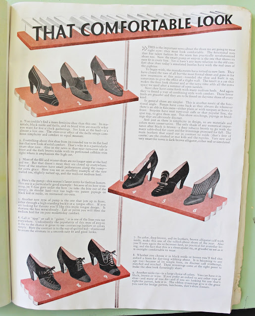 1930s womens fashion magazine vintage shoe advertisement