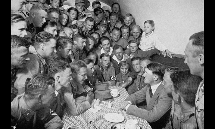 Adolf Hitler with his Brownshirts
