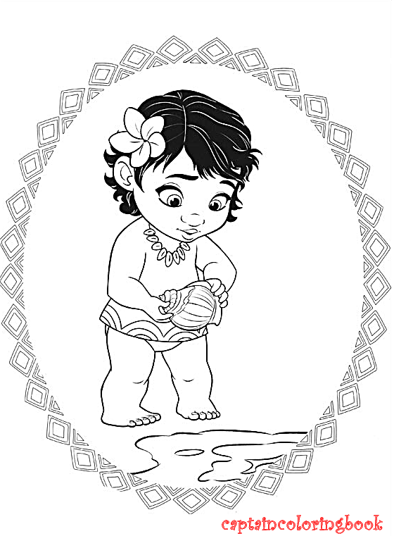 75 Coloring Pages Disney Moana
