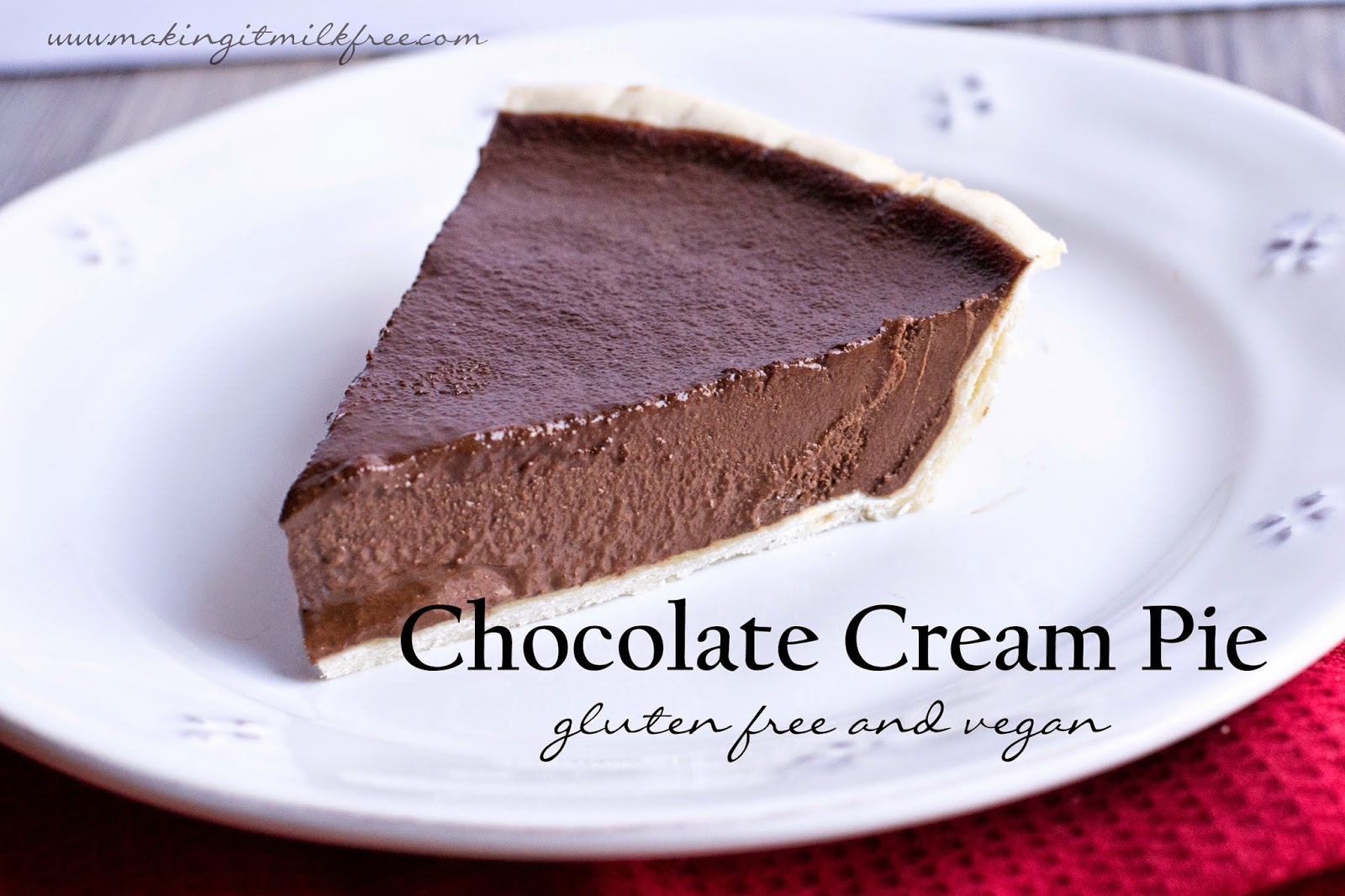 #glutenfree #vegan #chocolatepie
