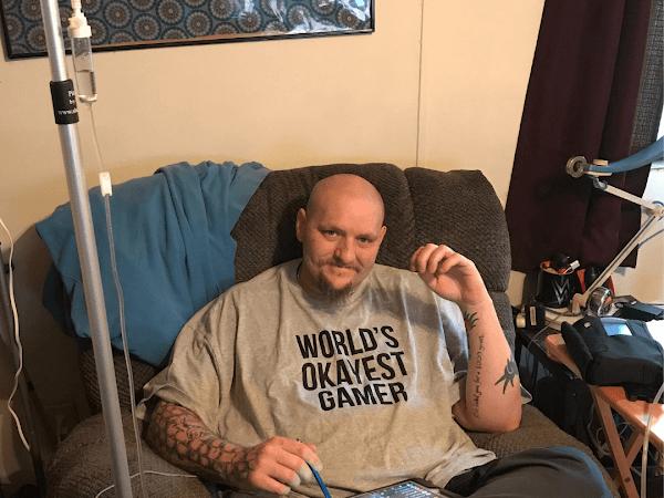 Worlds Okayest Gamer Men's T-Shirt From NerdyShirts.com