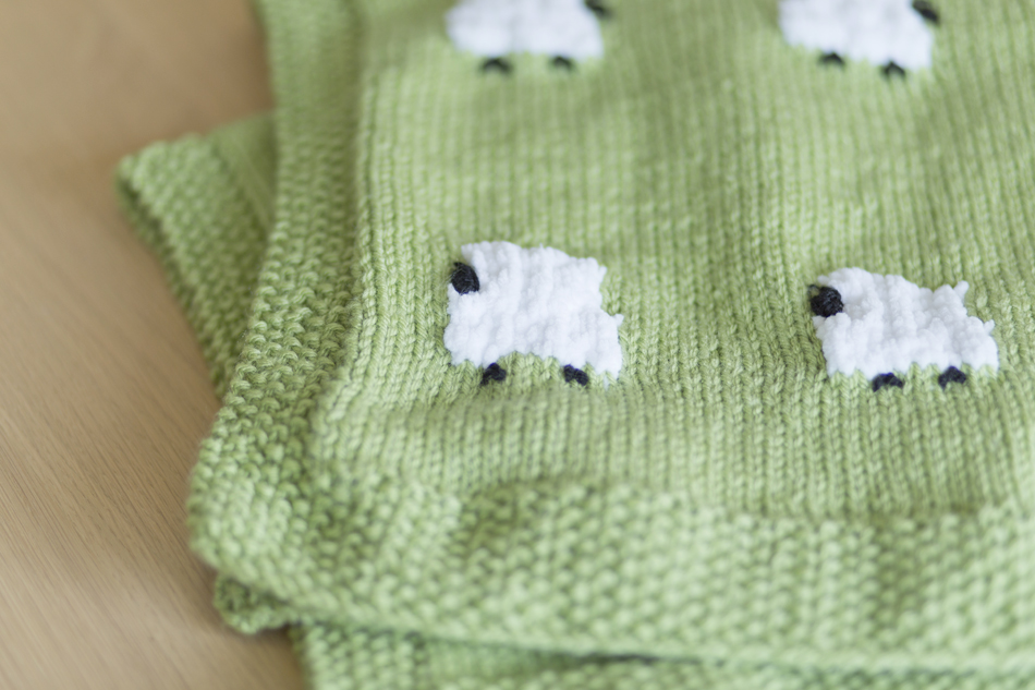 The Geeky Knitter Fo Knitted Sheep Baby Blanket