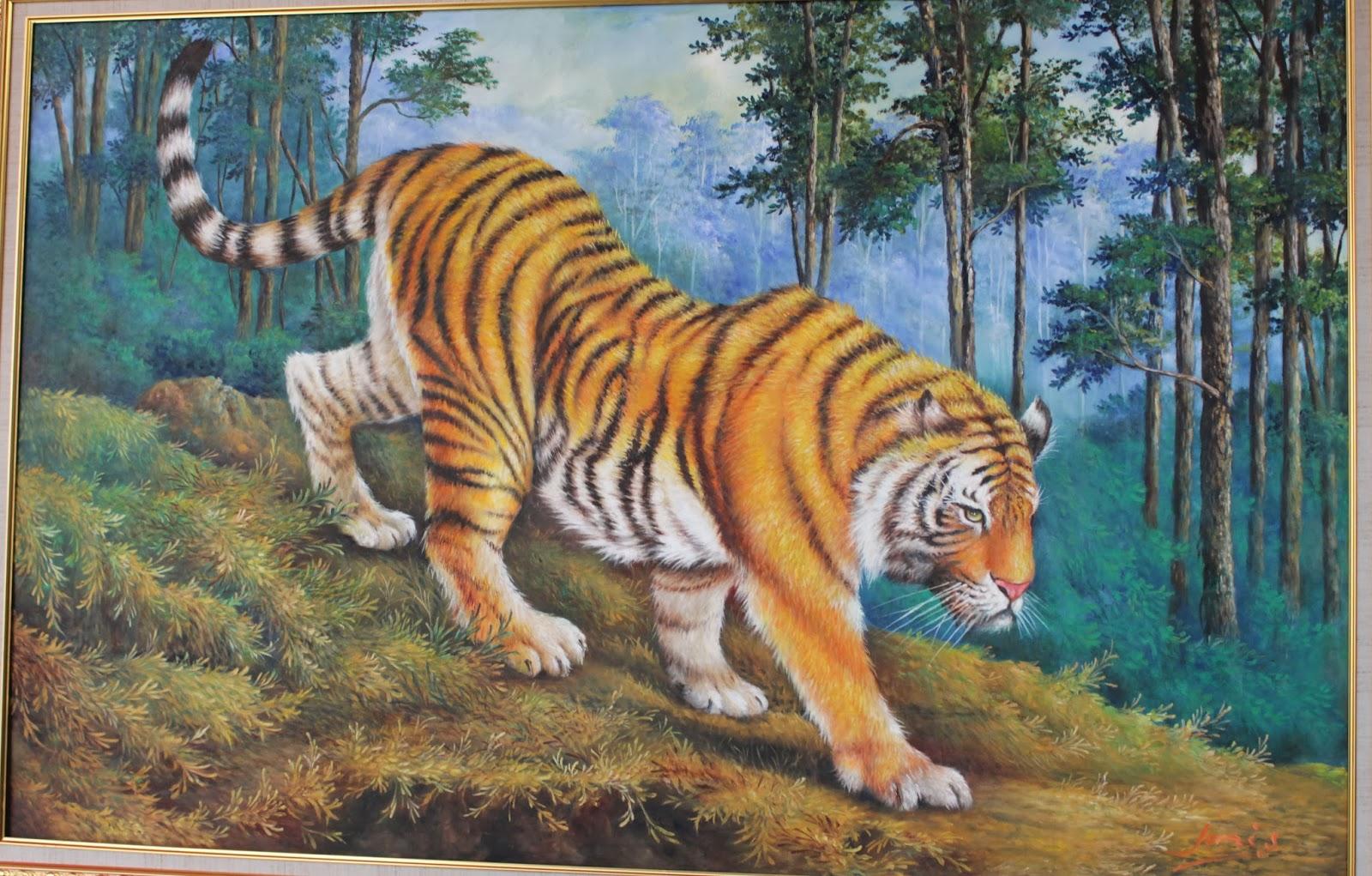 3d Jungle Wallpaper Seni Rupa Lukisan Lukisan Yang Dipamerkan Dalam Pameran
