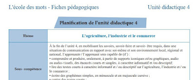 fiches pédagogiques - l'école des mots 4AEP - unité 4