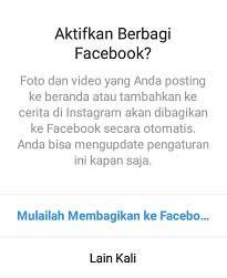 Cara Mengaitkan Akun Facebook Dengan akun instagram (IG ke FB)