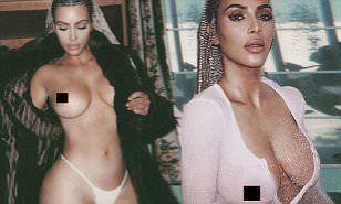 Kim Kardashian shocks with racy nude shots