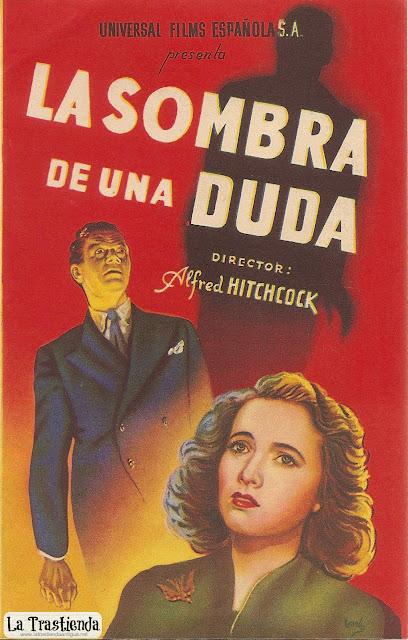 La Sombra de una Duda, Programa de Cine - Alfred Hitchcock - Joseph Cotten - Teresa Wright