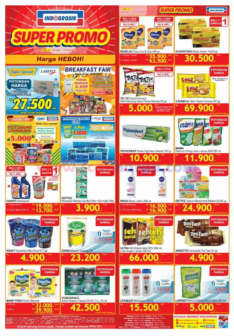 Katalog INDOGROSIR Super Promo Periode 1 - 15 Juli 2020 1
