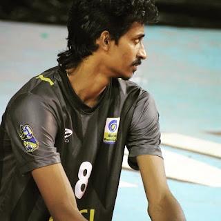 India Volleyball Player  Ajithlal Chandran