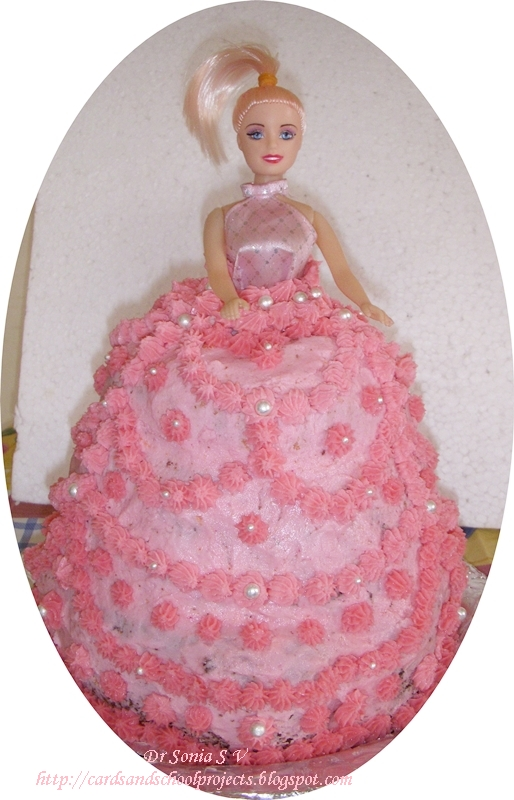 Easy Doll Cake Images : Cards ,Crafts ,Kids Projects: Barbie Doll Cake- How to ...