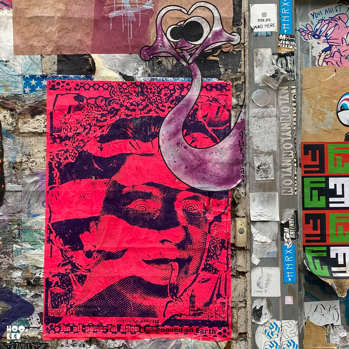 5 Shoreditch Street Art Hotspots for Paste-ups- Ben Rider and Qwerty