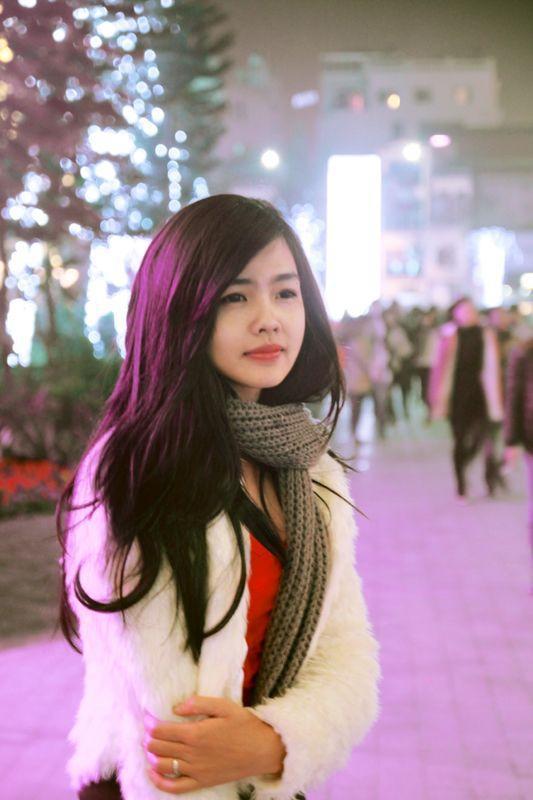 Hot Girl FPT Hà Nội Xinh Tươi Đón Noen 5
