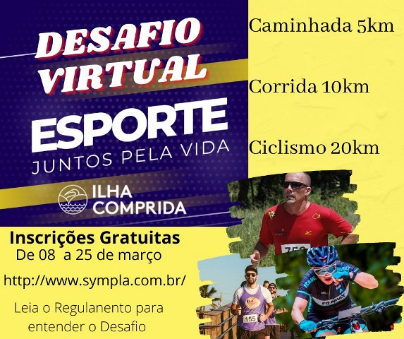 Divisão de Esportes da Ilha lança desafio virtual Esporte, Juntos pela vida