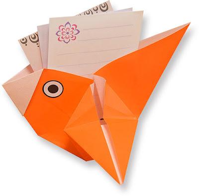 Cách gấp xếp con chim bằng giấy origami