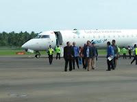 Garuda Jakarta - Nias Mendarat Perdana di Bandara Binaka