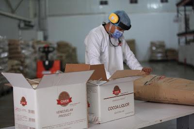 Exportan 100 toneladas de licor de cacao barloventeño a Cuba