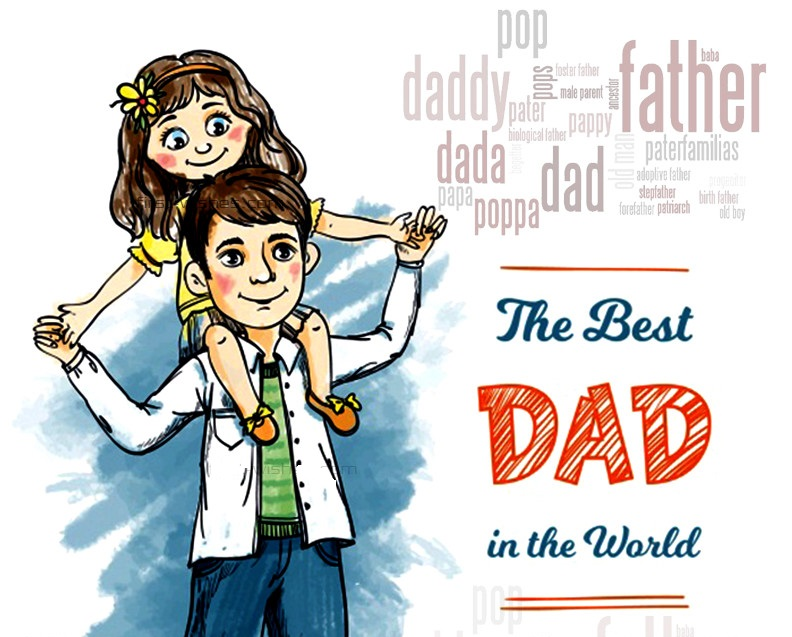 Daughter Fathers day  wishes dad