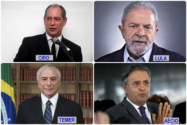 Seis presidenciáveis estão envolvidos em escândalos que mancham reputação, segundo informações do CearáNews7