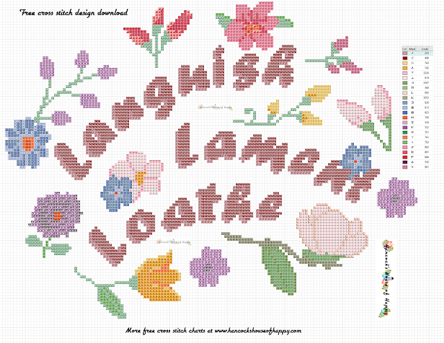 Free Sarcastic Cross Stitch Pattern for Live, Laugh, Love: Languish, Lament, Loathe