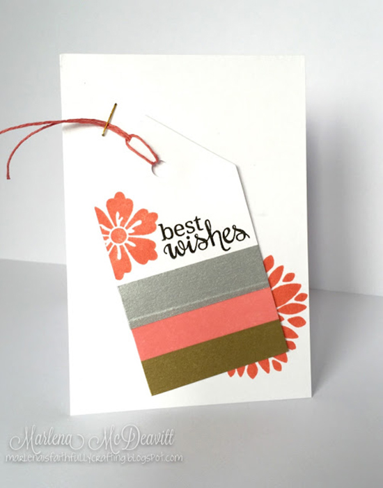 Flower Card by Marlena M | Fanciful Florals Stamp set by Newton's Nook Designs #newtonsnook