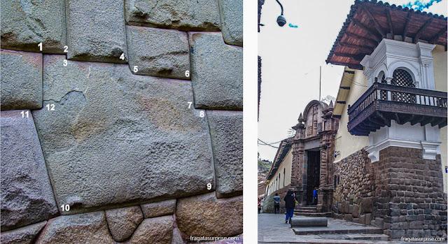 A Pedra de 12 Ângulos e o Palácio de Inca Roca, em Cusco