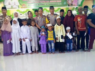 Kapolres Batu Bara Sumbang Rp 10 juta Untuk Renovasi Masjid Nurul A'kasyah