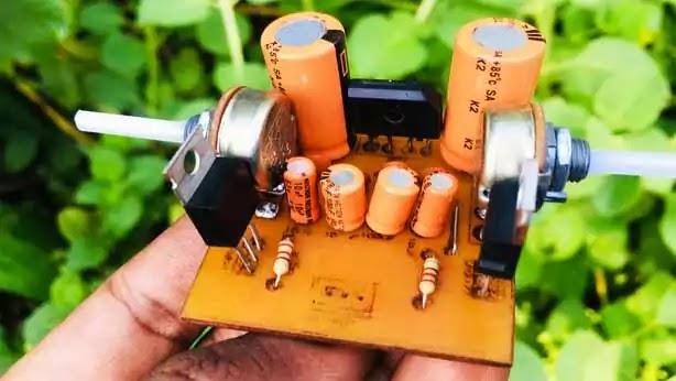 adjustable 1.25v to 30v using lm317 & lm337