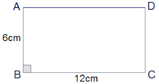 rectangle ABCD of length 12 cm and breadth 6 cm