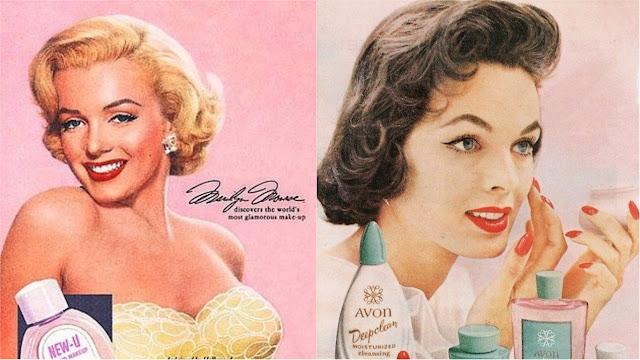 1950 maquiagem vintage