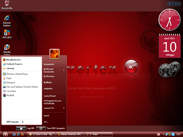 Windows XP Vortex 3G Red Edition ISO Free Download