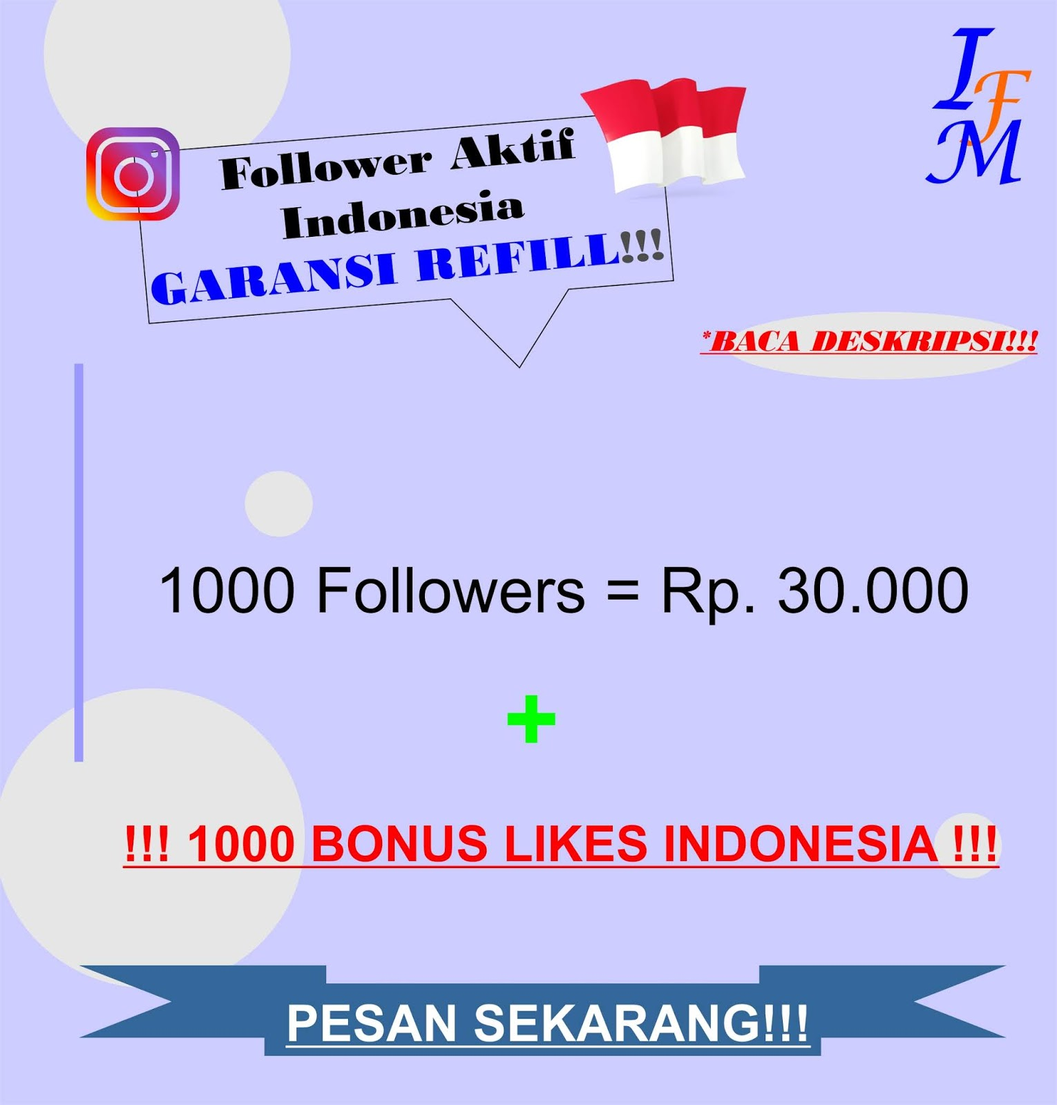 Jasa Tambah 1000 Follower Akun Instagram Aktif Indonesia Murah Garansi Refill